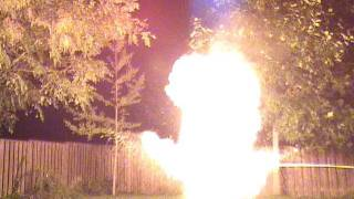 Flour Powered Flame Thrower