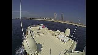 preview picture of video 'Ferretti 690 Altura delivery after Winter Care Service in Port Forum by Ventura Barcelona'