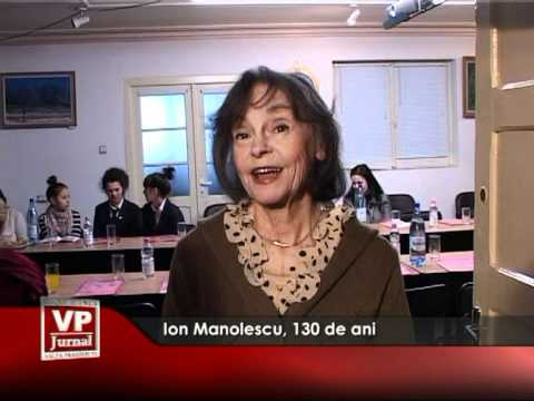 Ion Manolescu, 130 de ani