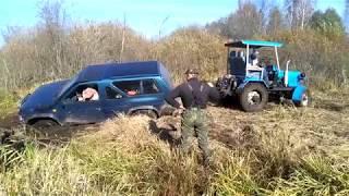 Самодельные трактора 4x4 поехали на OFF-ROAD с внедорожниками