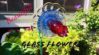 🇺🇸 Glass Flower Garden Art