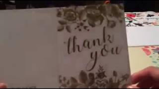 Beautiful Thank You Card   Blank Cards   White Envelopes Included   Bridal, Baby Showers and Busines