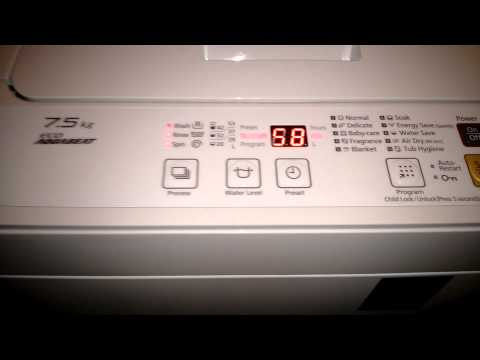 My new 7.5kg top loading washing machine - Panasonic NA-F75S7
