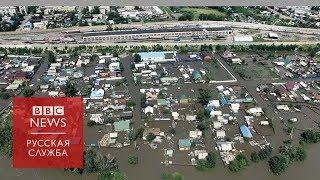 В Чите затопило часть города: съемки с дрона