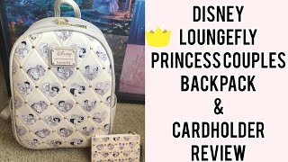 Disney Loungefly Princess Couples Backpack/cardholder Review
