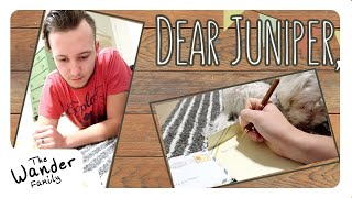 WRITING LETTERS TO BABY! 📝 Future Baby Paper Time Capsule | The Wander Family