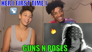 GIRLFRIEND REACT TO Guns N Roses Sweet Child O Mine (Official Music Video) REACTION! ( First Time )