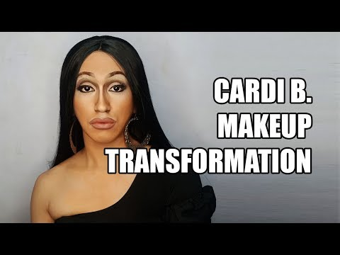 cardi b makeup transformation time lapse