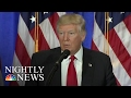 Pres.-Elect Donald Trump Meets The Press In First News Conference Since July 2016 | NBC Nightly News