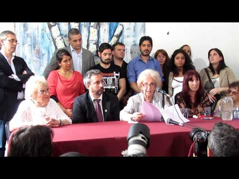 Conferencia de prensa por la restitución del nieto Jorge Castro Rubel