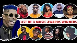 Full List of 3Music Awards Winners 2019