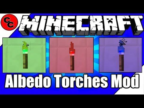 """Minecraft Mods: """"Albedo Torches Mod 1.12.2"""""""