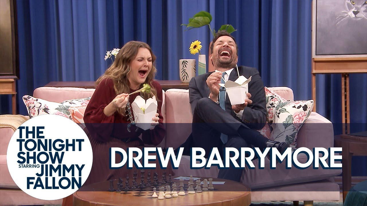 Drew Barrymore and Jimmy Do a Flower Home Catalogue Photo Shoot thumbnail