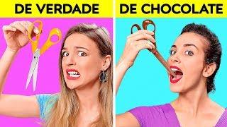 DESAFIO: REAL X DE CHOCOLATE   O Último Que PARAR Ganha! Teste De Sabores por 123 GO! CHALLENGE