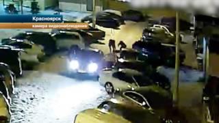 В Красноярске таксист дал отпор толпе молодчиков с помощью лопаты