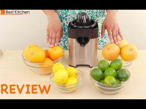 , Cuisinart CCJ-500 Pulp Control Citrus Juicer, Brushed Stainless