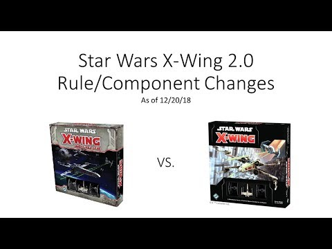 DGA Overviews: X-Wing 1.0 vs X-Wing 2.0 - Rule / Component Changes