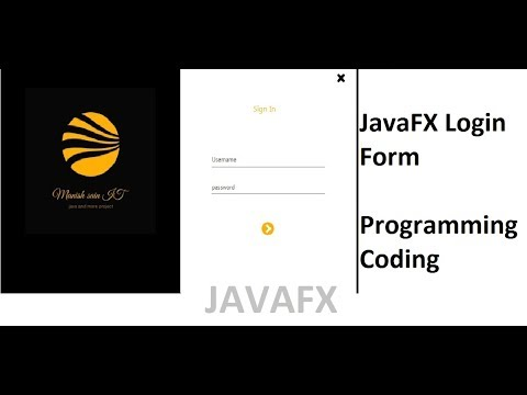 JavaFX Login Example - Scene builder and Netbeans - смотреть
