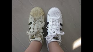 How to whiten Adidas Superstar (THREADS AND FABRIC INCLUDED)