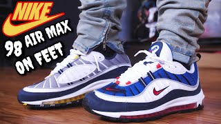 THESE SOLD OUT QUICK! GUNDAM & TOUR YELLOW AIR MAX 98 ON FEET REVIEW!
