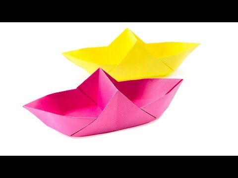 Origami Boat Basket Tutorial 2 Sectioned Box Paper Kawaii
