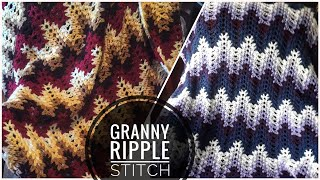 Crochet Granny Ripple Stitch - Afghan Pattern