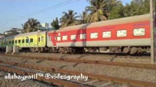 preview picture of video 'FIRST DEPARTURE  OF WAP7  WITH MUMBAI RAJDHANI LEAVING MUMBAI'