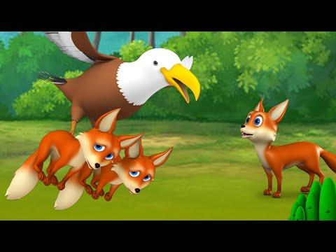 Brave Fox and Eagle Bengali Story - সাহসী শিয়াল এবং গল বাংলা গল্প 3D Cartoon Kids Moral Stories