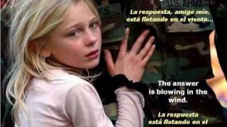 Blowing In The Wind - Soplando En El Viento