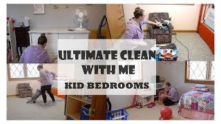 ULTIMATE CLEAN WITH ME! / KID BEDROOMS / CLEAN WITH ME / Amber The Happy Homemaker