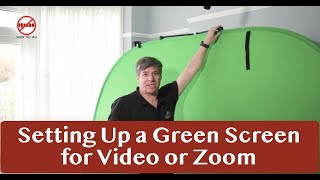 Setting Up a Green Screen for a Zoom Meeting