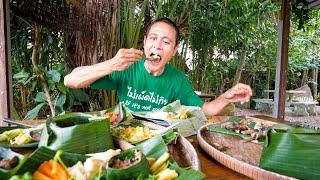 Golden Goose Eggs - BALLOON OMELET!! Rare Jungle Food in Southeast Asia!!