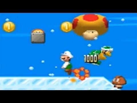 New Super Luigi Bros. DS - 100% Walkthrough Part 5 - World 5: Snow