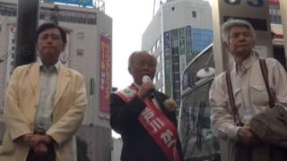 菅原文太さんと保坂世田谷区長が応援に!パート32013年7月18日渋谷