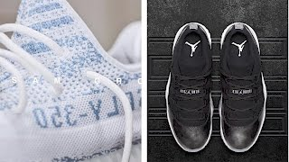 "New INFO: YEEZY Boost 350 V2 ""Light Blue"" and Jordan 11 ""Barons"" and more on #TodayinSneaks"