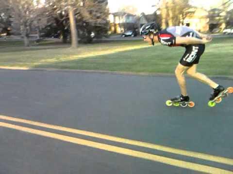 Shaun Thomas inline speedskating at Wash Park double push roller