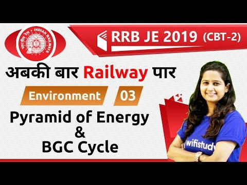 7:00 PM - RRB JE 2019 (CBT-2) | Environment by Shipra Ma'am | Pyramid of Energy & BGC Cycle