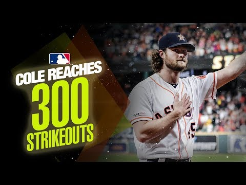 Astros' Gerrit Cole reaches 300 strikeouts in 2019!