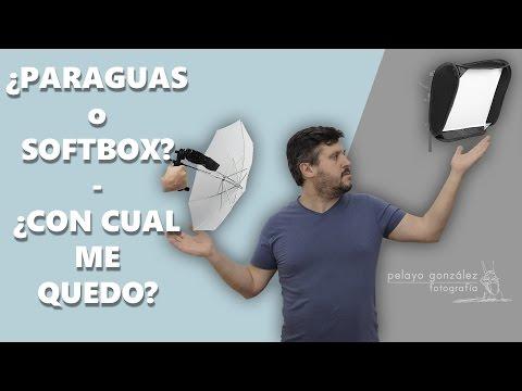 ¿Paraguas o softbox?  - Qué elegir