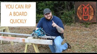 HOW TO RIP A BOARD QUICKLY WITH JUST YOUR CIRCULAR SAW
