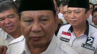 Soal Cawapres: Prabowo: Saya Masih Bangun Komunikasi