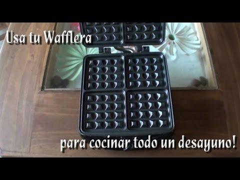 Como utilizar su wafflera para hacer un desayuno completo