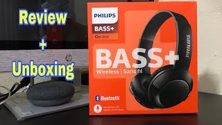 PHILIPS Bluetooth BASS+ on ear Headphones with Mic   Review and Unboxing