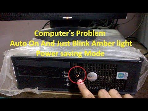 Dell 780 yellow power light, blinking 1 and 2 - смотреть онлайн на