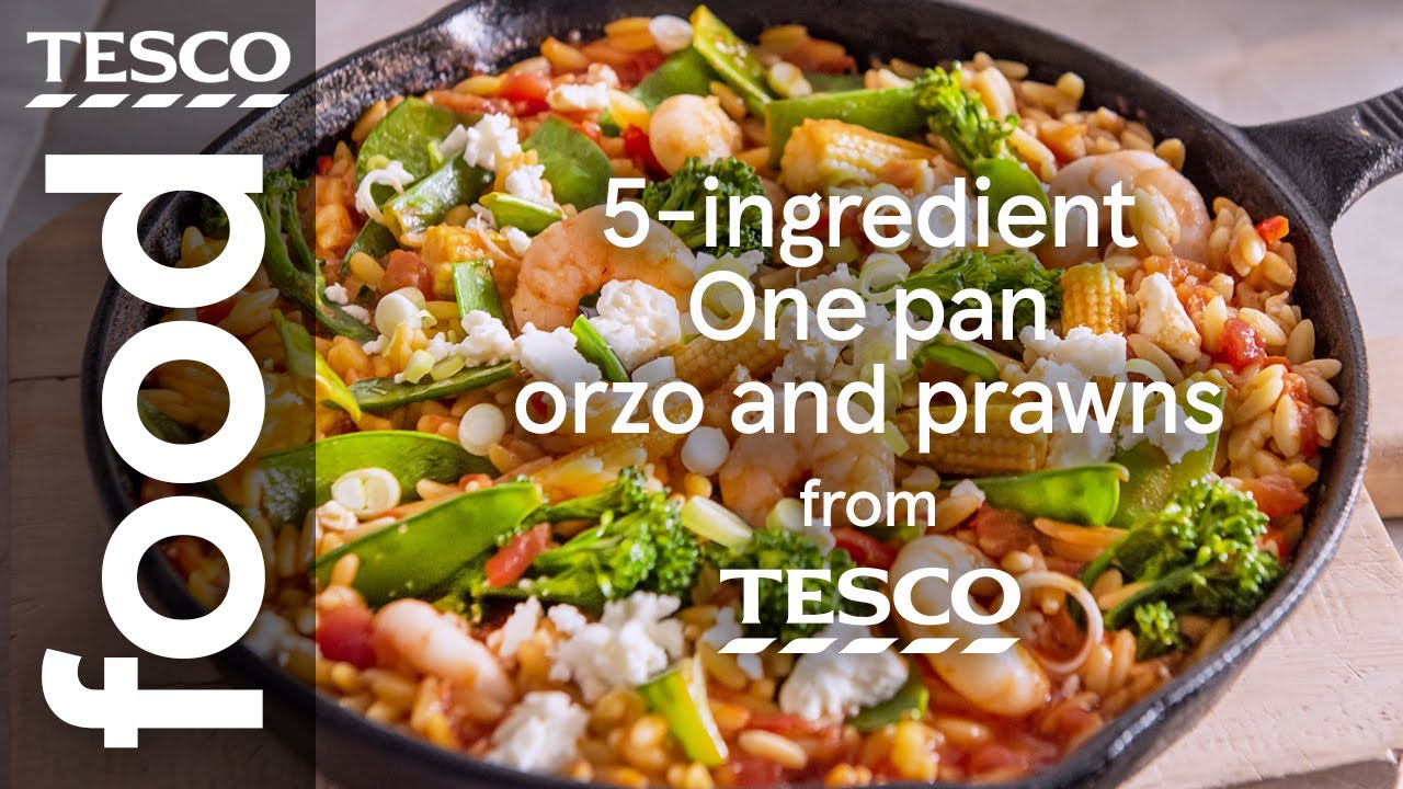 One-pan orzo and prawns