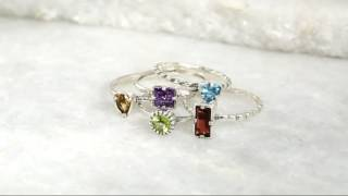 Sterling Silver 2.80 Cttw Set Of 5 Gemstone Rings By Or Paz On QVC