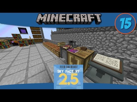 Minecraft Mods: Duplicating Enchanted Books in SkyFactory 2.5 - E15