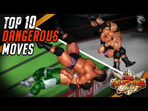 Fire Pro Wrestling World - TOP 10 MOST DANGEROUS MOVES !