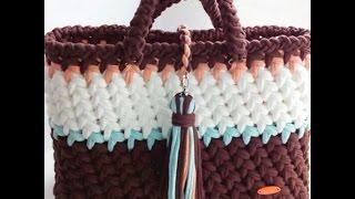 Сумка из трикотажной пряжи. Bag made of knitting yarn