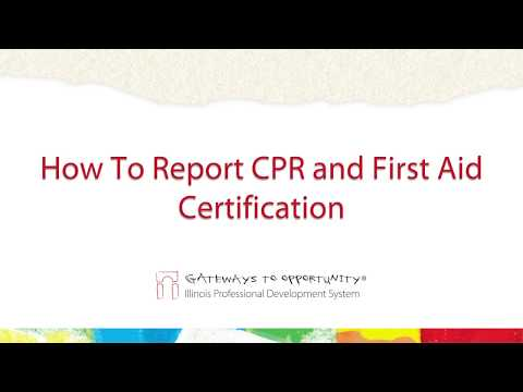 How To Report CPR and First Aid Certification - YouTube